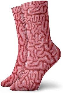 iuitt7rtree Calcetines Cerebros rojos Suficiencia Cojín que absorbe la humedad Colorido Divertido No Show Calcetines bajos...