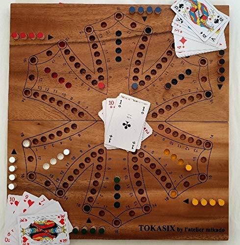 jeu de toc Nouveau ou Tock pour 6 Joueurs Pliable Format XXL