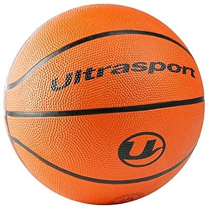 Ultrasport Balón de baloncesto infantil, tamaño pequeño 5 con circunferencia de 70 cm, balón de baloncesto ideal para niños, blando con superficie antideslizante, naranja, balón de interior y exterior