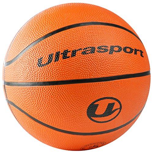 Ultrasport Basketball, idealer Basketball für alle Untergründe, geeginet für Indoor oder Outdoor, sehr guter Gripp und exzellente Haptik dank genoppter Oberfläche, Size 5 und 7, Farbe: Orange