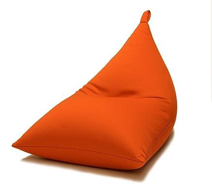 三角型ビーズクッション【montagne モンターニュ】 (オレンジ)