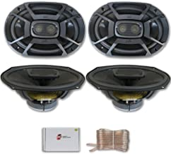 Polk Audio db Series 6x9 3-Way Car Audio Boat Motorcycle Marine UTV Audio Coaxial Speakers (2 Pairs) with DiscountCentralO... photo