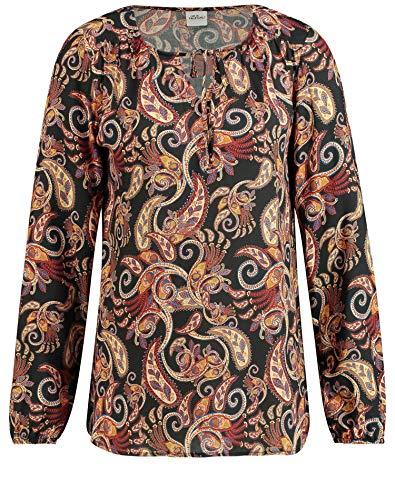 Taifun Damen 460052-11323 Bluse, Mehrfarbig (Burnt Brick Gemustert 6062), (Herstellergröße: 36)