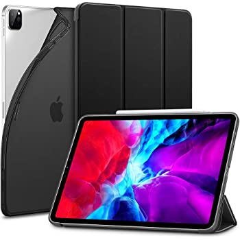 ESR for iPad Pro 12.9 Case 2020 & 2018, Rebound Slim Smart Case with Auto Sleep/Wake [Viewing/Typing Stand Mode] [Flexible TPU Back with Rubberized Cover] - Black
