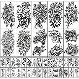 Wasserdichtes Temporäres Tattoo für Frauen und Mädchen 10 Blatt Extra Größer und 30 Blatt winzig Gefälschte Tattoo-Aufkleber-Kits für Partydekoration