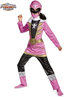 Disguise Saban Super MegaForce Power Rangers Pink Ranger Classic Girls Costume, Medium/7-8