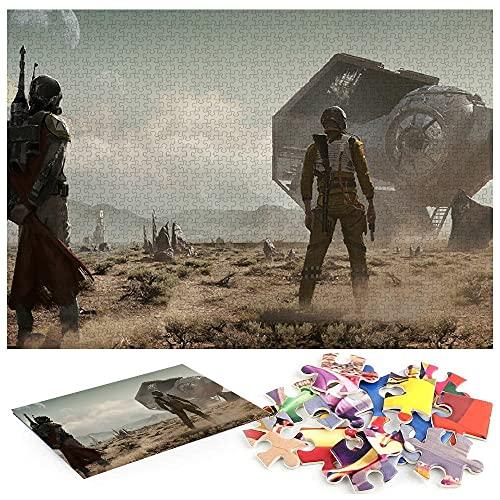 Star Wars Darth Vader 1000 Piezas Puzzle para Adultos NiñOs Educativo Pieces Arte CartóN 38X26 CM CláSicos Juego De Rompecabezas Adolescentes Infantil Toda La Familiar Regalos Creativo
