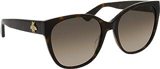 غوتشي نظارة شمسية للنساء ، بني ، مربع ، GG0097S_002
