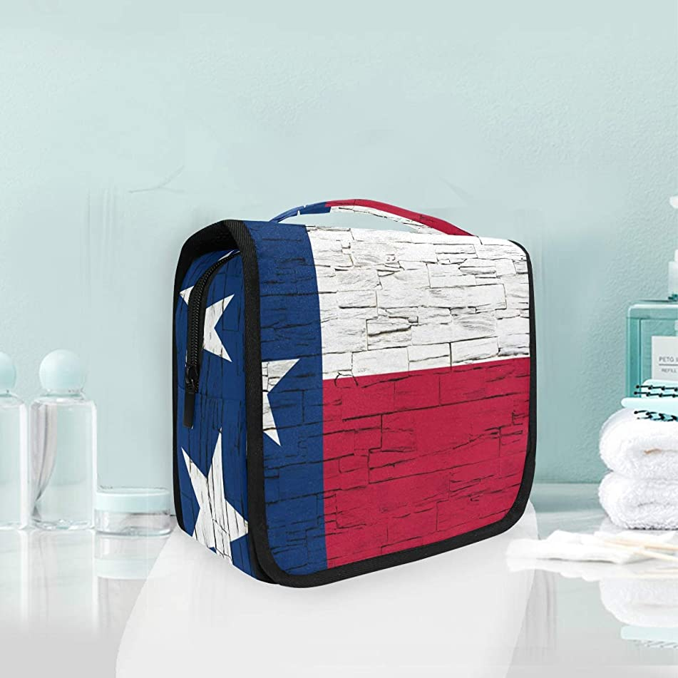 Texas State Flag Large Hanging Toiletry Bag Waterproof Cosmetic Bag Makeup Travel Pouch Purse Organizer Wash Gargle bag