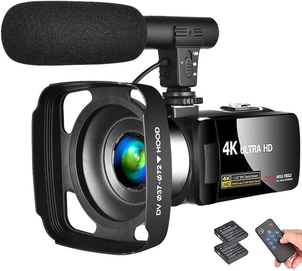 LINNSE Black Video Camera Camcorder