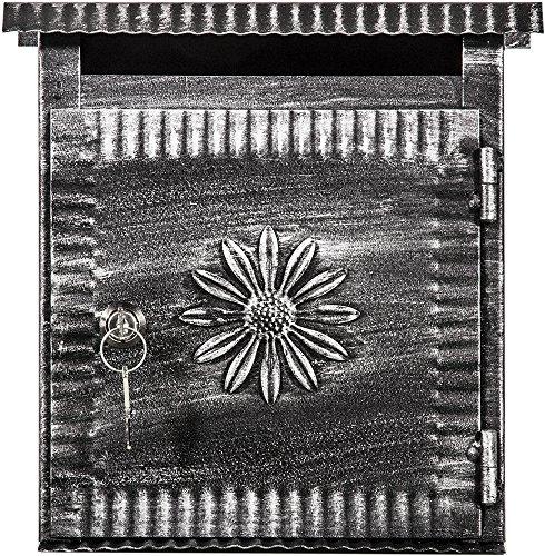 Viscio Trading 155968 brievenbus, van ijzer, zwart