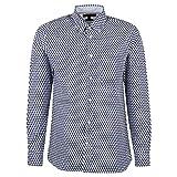 Tommy Hilfiger Herren Soft Large Geo Print Shirt Freizeithemd, Blau, X (Herstellergröße:)