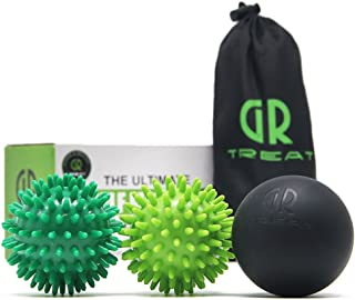 Foot Massage Ball Roller - Peanut Massage Ball for Myofascial Release Treatment & Trigger Point Therapy - Great for Plantar Fasciitis, Heel & Foot Arch Pain Relief (Massage Ball Set)