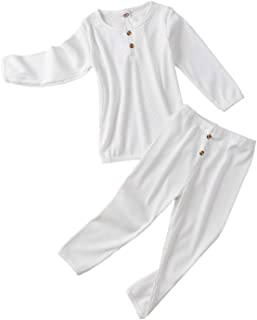 Toddlers Baby Cotton 2-Piece Pajamas PJ Sleepwear Set Fall Winter Clothes for Boys Girls