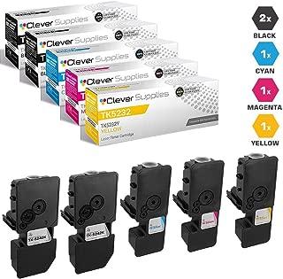 CS Compatible Toner Cartridge Replacement for Kyocera-Mita TK5232 TK5232K Black TK5232C Cyan TK5232M Magenta TK5232Y Yellow ECOSYS M5526cdw ECOSYS P5026cdw 5 Color Set
