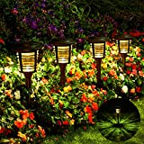 Solar Pathway Lights, Solar Path Lights Outdoor 4Pack w/Rotate Mode, 15-30Lumen Bright LED Pathway Light Solar Powered, IP65 Waterproof, Auto On/Off, Long Last, for Landscape Garden Lawn(Warm White)