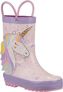 Laura Ashley Lilac Multi 3D Unicorn Head Rain Boots Girls Toddler/Little Kid
