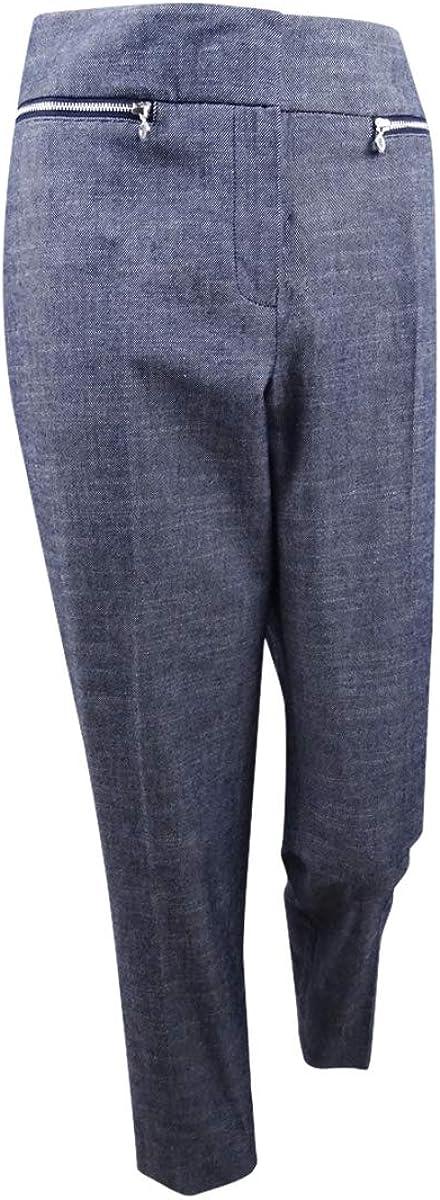 Nine West Women's Plus Size Cotton Slim-Leg Denim Pants