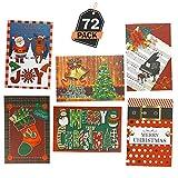 72 Tarjetas de Felicitación de Navidad – Accesorio Navideño para Regalos – Invitación para...