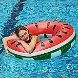 Flotador de sandía, anillo de natación para verano, agua, juguete hinchable, piscina...