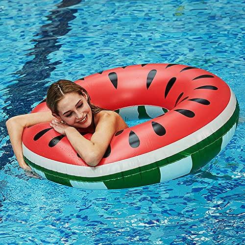 Flotador de sandía, anillo de natación para verano, agua, juguete hinchable, piscina hinchable, para adultos y niños