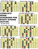 Complete Mode Diagrams for Eight String Guitar (Basic Scale Guides for Eight String Guitar) (Volume 1)