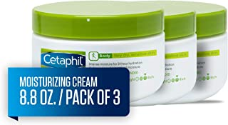Cetaphil Moisturizing Cream for Very Dry, Sensitive Skin, Extra Strength, Fragrance Free, 8.8 Ounce (Pack of 3)
