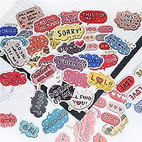40個/パックかわいいラブメッセージDiy日記ステッカーアルバムレーベルスクラップブッキングステッカーデコレーション学校のオフィスの文房具