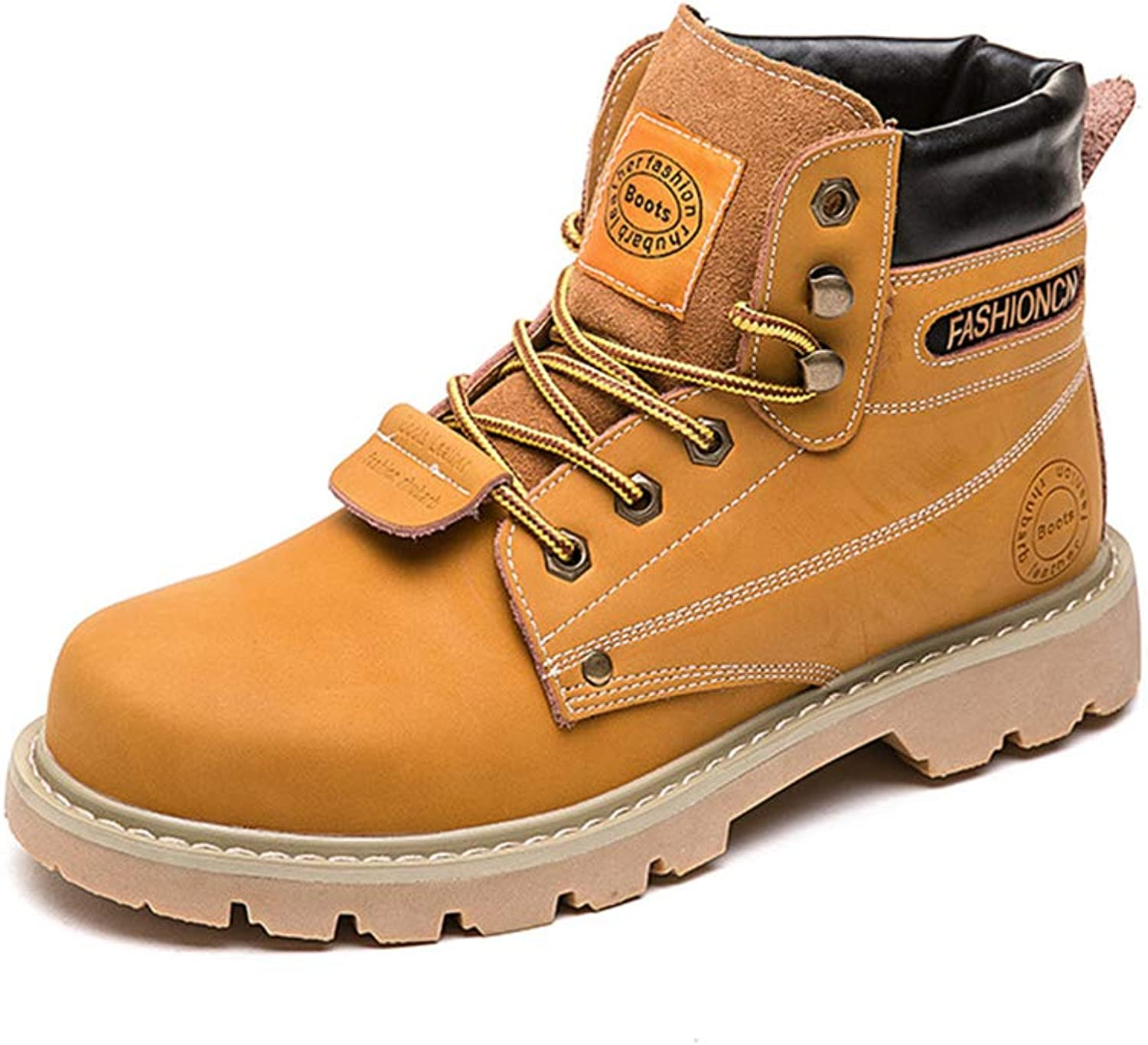 Super color Women's Fashion Leather Lace up Boots Winter shoes Waterproof Wear-Resistant Hiking Boots