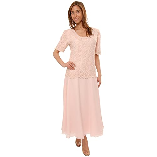 071969355bd Mother of the Bride Great Tea Length Dress in Pink Plus   Missy Sizes