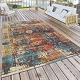 Paco Home In- & Outdoor Teppich Modern Nomaden Design Terrassen Teppich Wetterfest Bunt, Grösse:80x150 cm