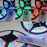 LED Strip Lights 600 LED Strip Light String Tape + 44 Key IR Remote Control Supply for TV Room Kitchen Party Decoration Bedroom (LED Strip Lights) Uptodate