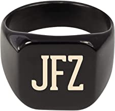 Molandra Products JFZ - Adult Initials Stainless Steel Ring