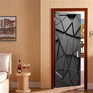 DIY Home Decoration Glass stickers Window Film,Custom Metal Line Door Stickers PVC Self-adhesive Wallpaper For Doors Art Home Decor Living Room Mural Removable Room Decal ( 15