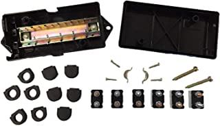 Truck Upfitters' Trailer Enclosed 12V Junction Box with 6 Short Stop Circuit Breakers for Trailers with 6-Way & 7-Way Connectors. Connects Lights, Brakes, 12 Volt Power to 7 or 6 Pin Trailer Plug.