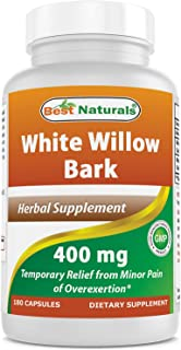 Best Naturals White Willow Bark 400 mg 180 Capsules