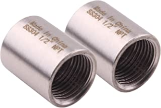 Cast Pipe Fitting Coupling Stainless Steel 304 Coupling Fitting Class 150 1/2 NPT Female, Pack of 2