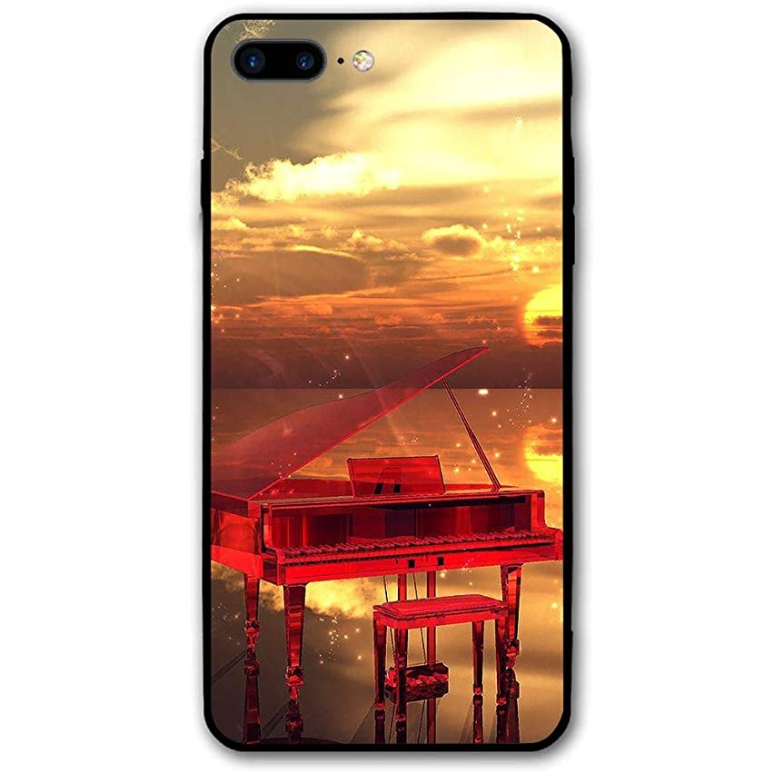 5.5Inch iPhone 8 Plus Case Sunset Piano Anti-Scratch Shock Proof Hard PC Protective Case Cover