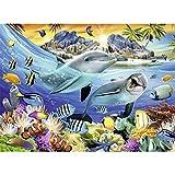 Desconocido 1000 Piezas Puzzles para Adultos Juegos Vida Marina de los Delfines Adultos niños Art Juego de Rompecabezas