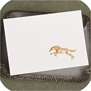 Creative Mini Greeting Cards Gold Embossed Cards Paper 3D Small Gift Cards For Birthday Party Promotion Gift,Horse