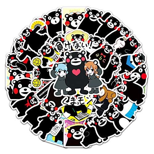 WYZNB Kumamoto Bear Doodle Pegatinas Decoración Skateboard Notebook Coche Niños Pascua Pegatinas Dibujos Animados