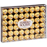 Chocolate Candy Gold Wrap Ferrero Rocher, 48 Count, Christmas Wrap