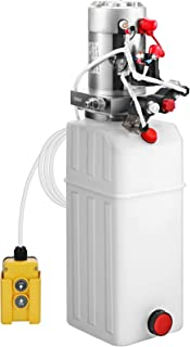 Mophorn 10 Quart Double Acting Hydraulic Pump Plastic Power Unit Dump Trailer