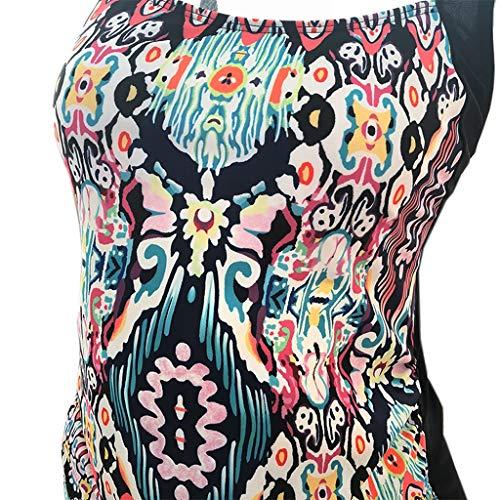 ProperLI Nouveau Maillot de Bain Imprimé/de Couleur Unie pour Femme Enceinte, Bikini rayé Sexy Une/Deux pièces, Pas de Support en Acier, À la Mode(S/M/L/XL/XXL/XXXL/XXXXL/XXXXXL)