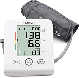 TENKER Digital Blood Pressure Monitor Large Cuff, Automatic Upper Arm FDA Approved BP Machine with Large LCD Display for 2 Users*90 Memories
