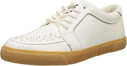 T.U.K. VLK Creeper Turnzapatos Wht Leath Gum Sole - Zapatilla Alta Unisex Adulto