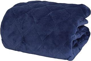 昭和西川 敷きパッド シングル 蓄熱わた使用 暖かフランネル ベッドパッド 100x205㎝ ブルー