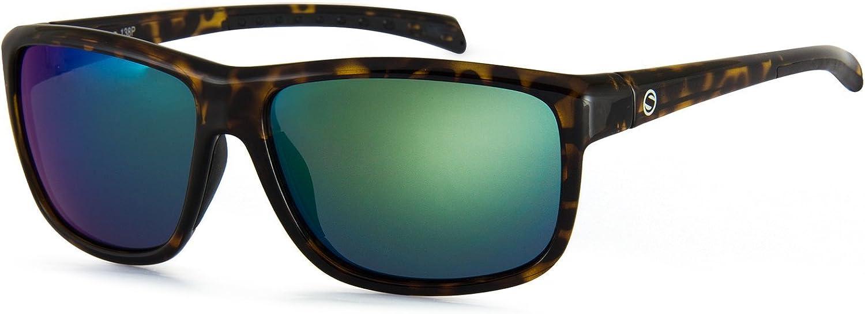 Sunbelt Amigo Polarized Oval Sunglasses, Tortoise, 62.0 mm