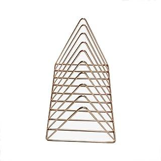 Soporte de exhibición de discos de vinilo de 12 pulgadas, tocador para dormitorio de niña Marco de triángulo hueco dorado ...