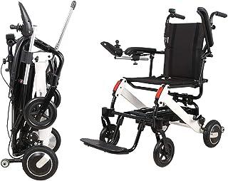 Silla de Ruedas eléctrica, Anciano Plegable Ayuda para discapacitados Coche Controlador Dual Compacto Inteligente Portátil